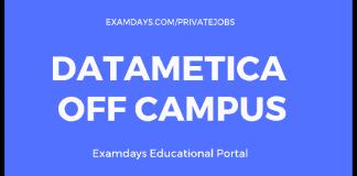 DataMetica off campus