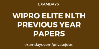 wipro elite nlth previous year papers
