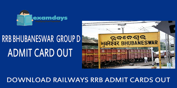 Download RRB Bhubaneshwar Group D Admit Card