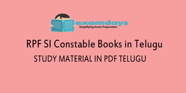 Rrb Rpf Si Constable Books Study Material In Telugu Download Pdf