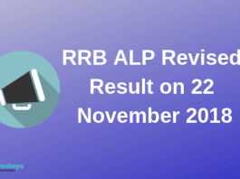 RRB ALP Revised Result on 22 November 2018