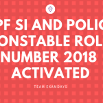 Railways RPF SI and Police Constable Roll Number 2018 Available From 15 November Onwards