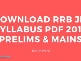 Download RRB JE Syllabus PDF 2019