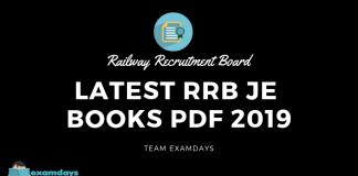 Latest RRB JE Books Pdf 2019