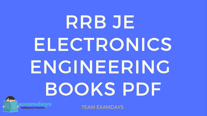 RRB JE Electronics Engineering Books | Study Materials PDF
