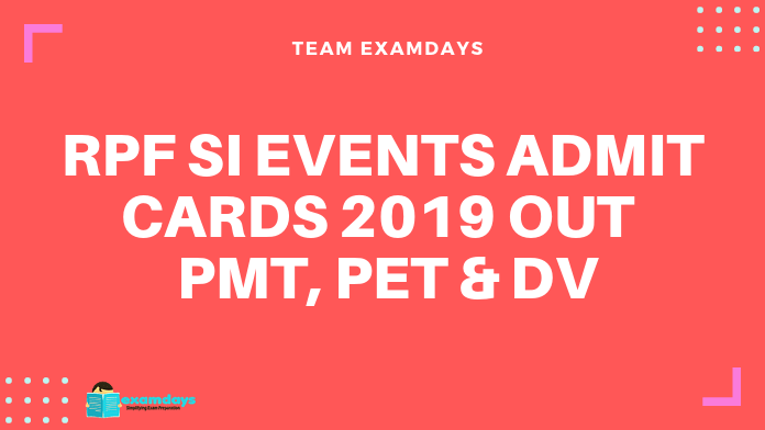 rpf si events admit card for pet pmt dv