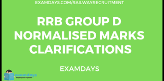 rrb group d normalized marks