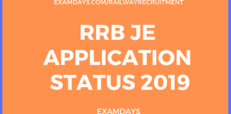 rrb je application status