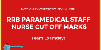 rrb paramedical staff nurse cutoff marks