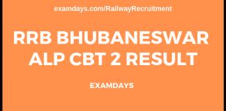 rrb bhubaneswar alp cbt 2 result