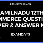 12th commerce question paper answer key