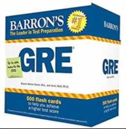 Barron's GRE Flashcards 3rd Edition