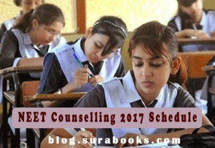 NEET Counselling 2017 Schedule