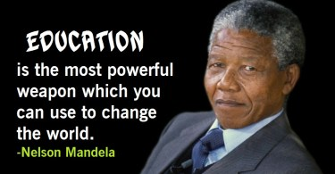 education quotes nelson mandela
