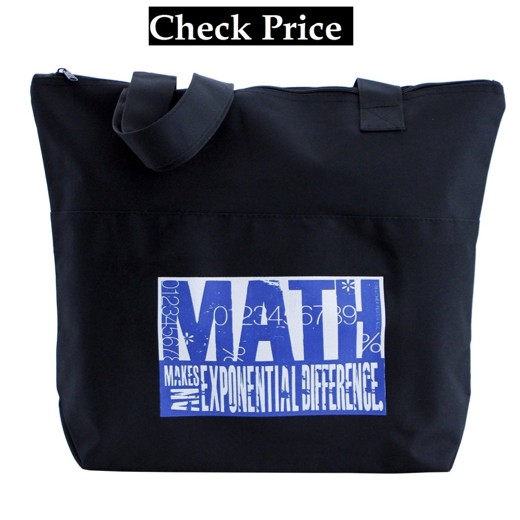Peach Math Teacher Tote Bag