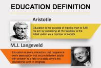 definition of education by different authors