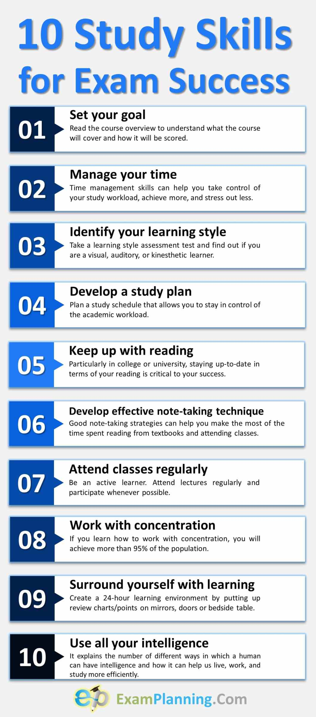 10 Study Skills for Exam Success
