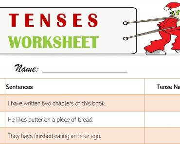 tenses worksheet