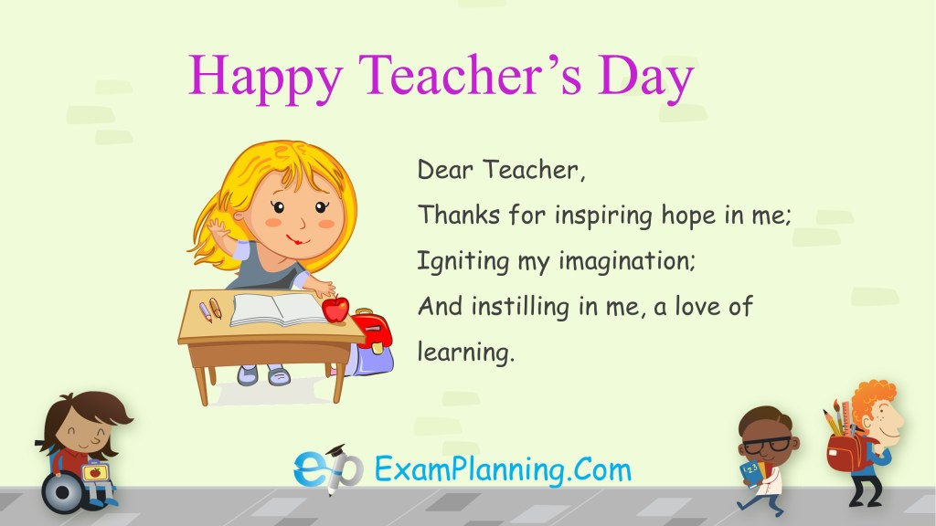 teachers day wishes for favorite teacher