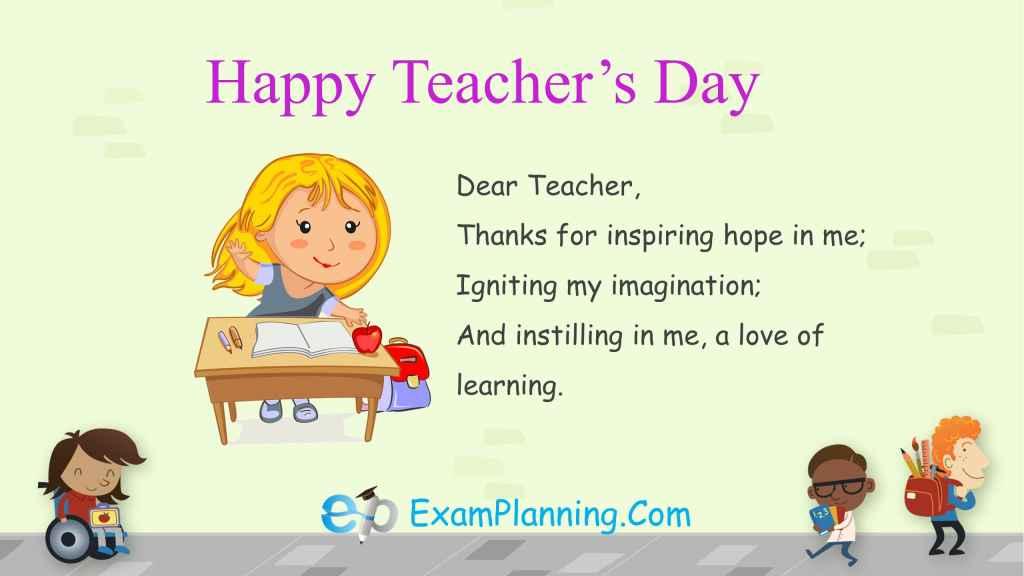 teachers day wishes for favorite teacher