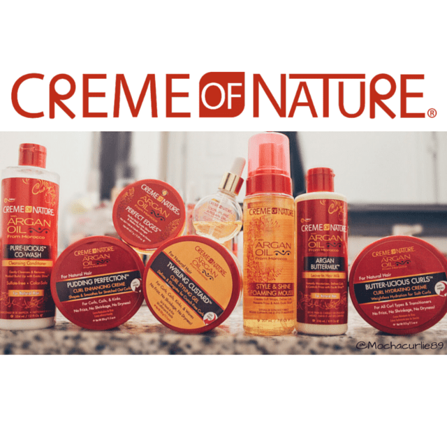 Creme Of Nature's New & Improved Argan Oil Line for Natural Hair!