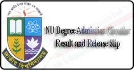 NU Degree Admission Release Slip Result