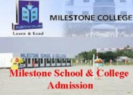 milestone school college admission
