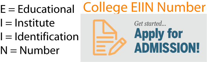 HSC Admission College EIIN Number