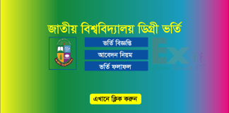 National University Degree Admission Result