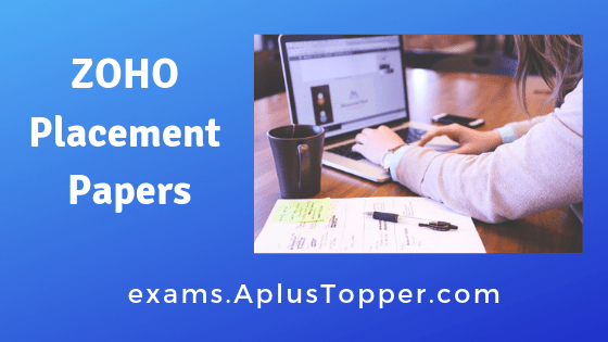 ZOHO Placement Papers
