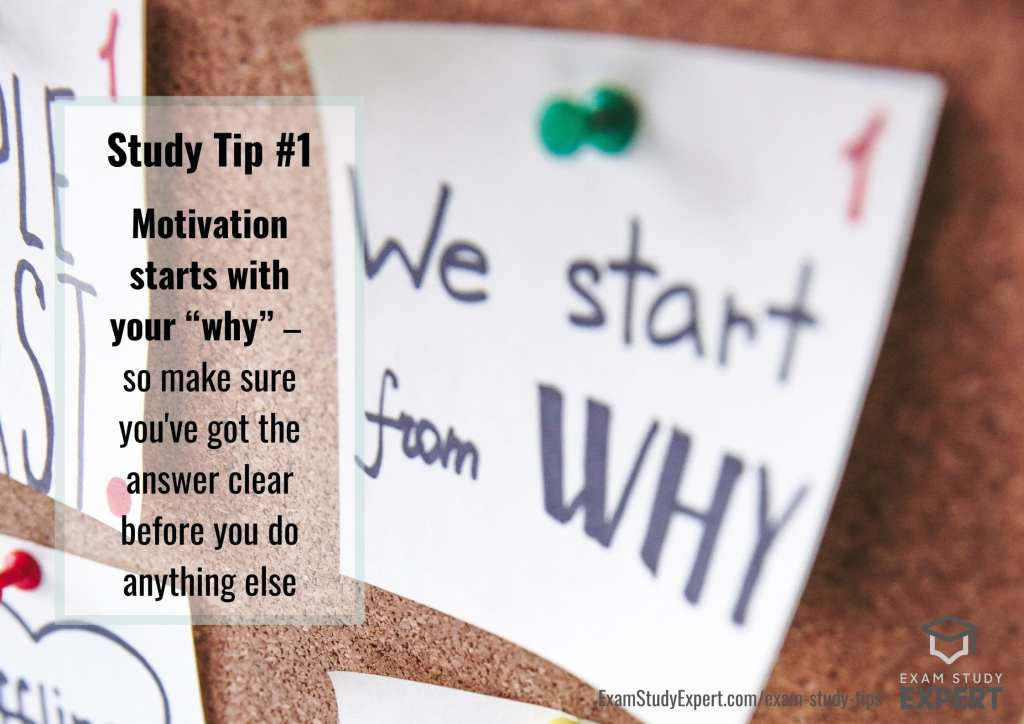 Motivational study tip