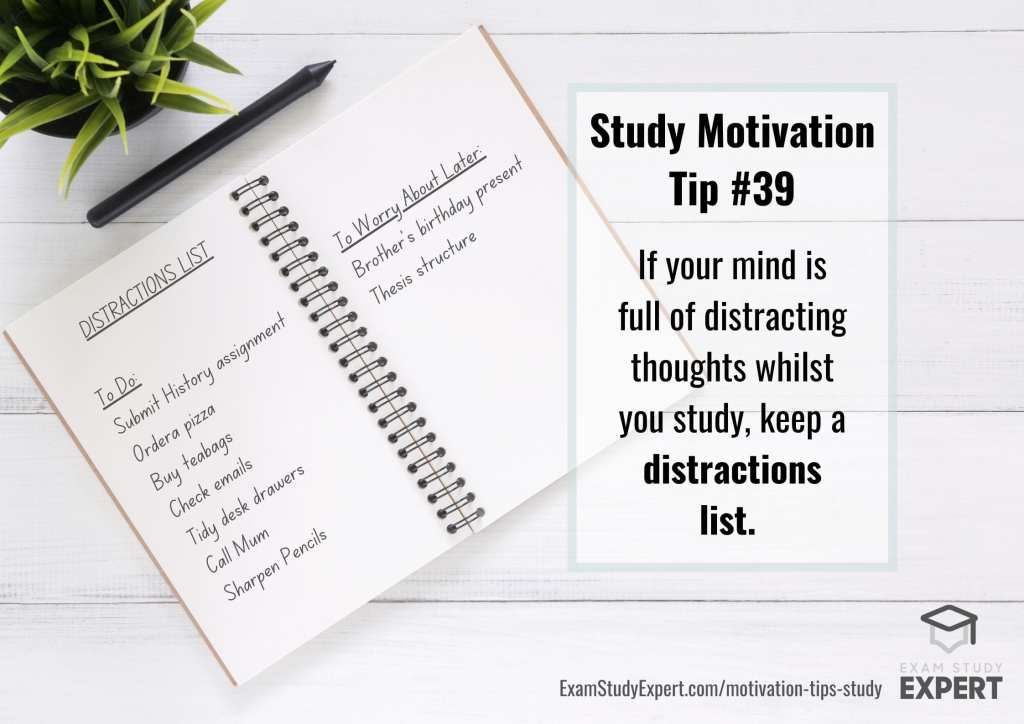 motivational tips for study