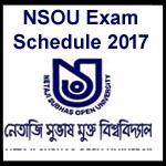 NSOU Exam Schedule 2017