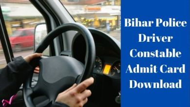 Photo of Bihar Police Driver Constable Admit Card Download