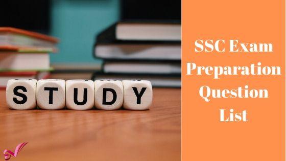 SSC Exam Preparation Question List 2020