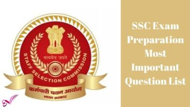 Photo of SSC Exam Preparation Most Important Question List