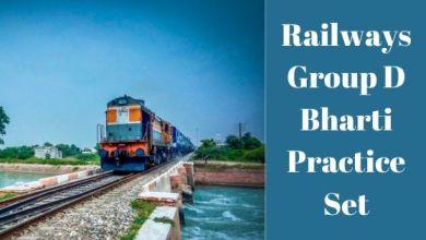 Photo of Railways Group D Bharti Practice Set 2020