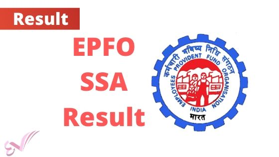 EPFO 2189 SSA Posts Mains Result