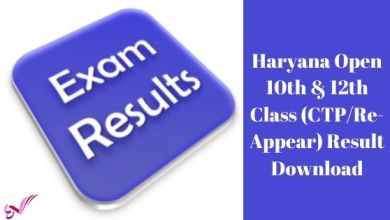 Photo of Haryana Open 10th & 12th Class (CTP/Re-Appear) Result Download