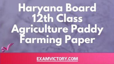 Photo of Haryana Board 12th Class Agriculture Paddy Farming Previous Year Question Paper