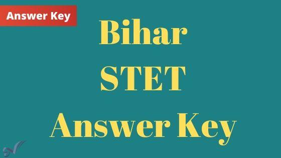 Bihar STET Answer Key Download
