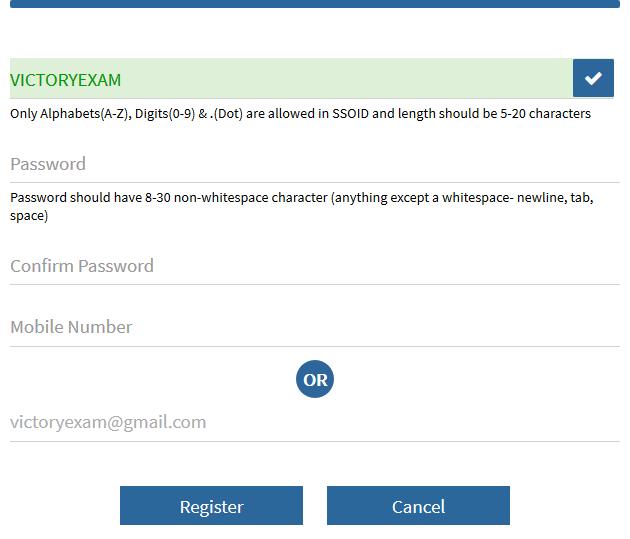 Rajasthan Single Sign On Register User