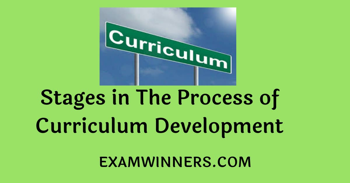 Stages in The Process of Curriculum Development