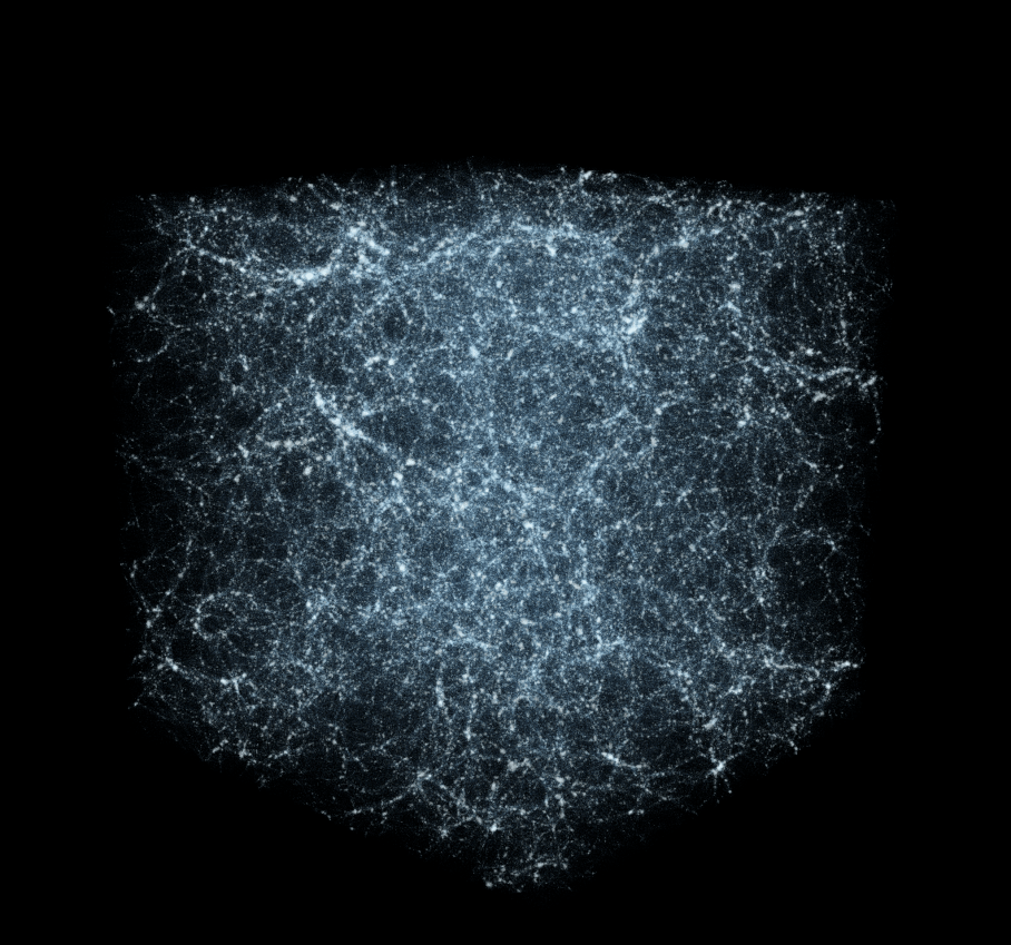 Visualization of universe's large scale structures