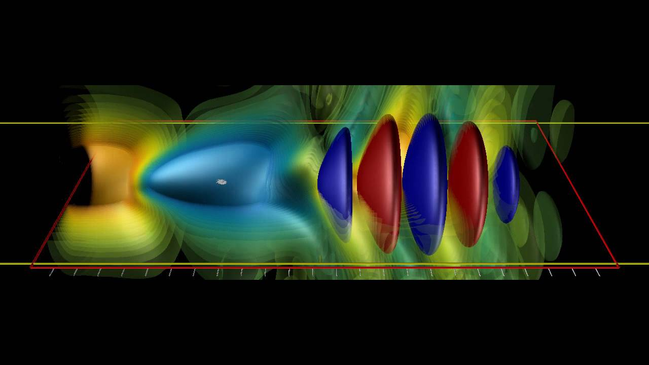 "Visualization of electron surfing on laser-plasma wave in a ""moving frame"" of reference."