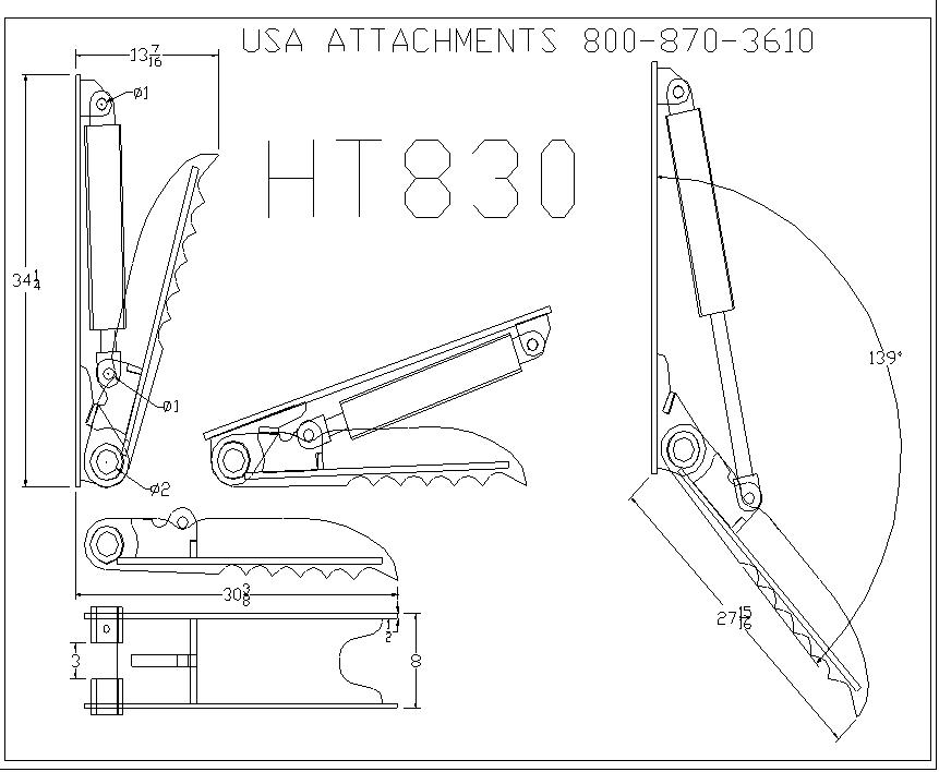 HT830 Line Drawing #ht830