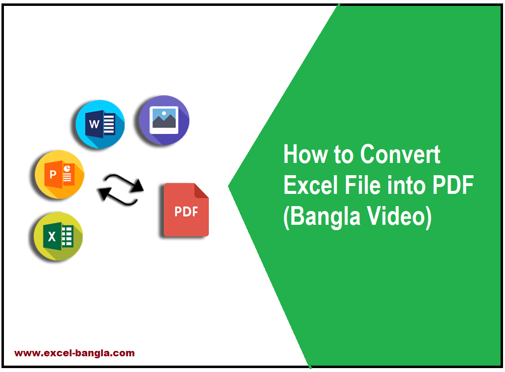 How to Convert Excel File into PDF (Bangla Video)