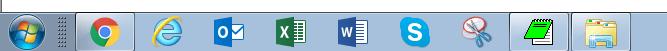 PCに出ているタスクバーの図