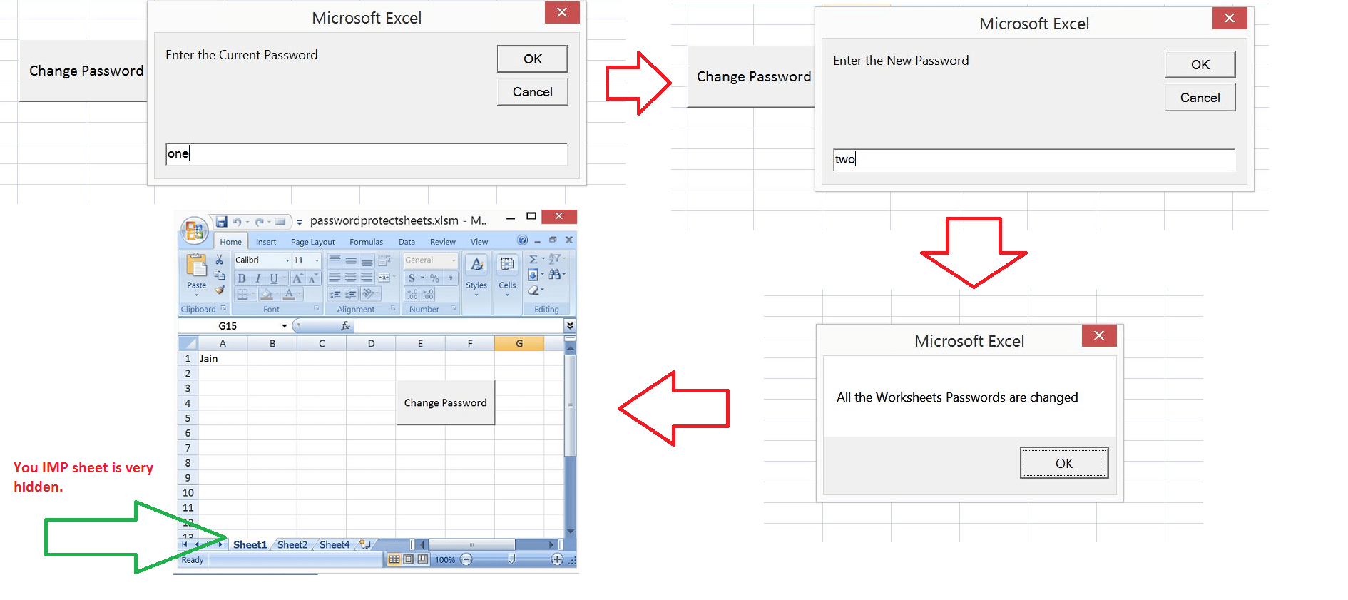 Excel Vba Change Passwords For All The Worksheets In One