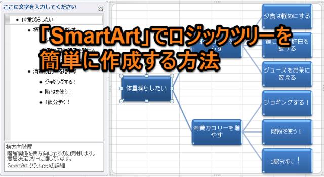 「SmartArt」で簡単にロジックツリーを作成する方法
